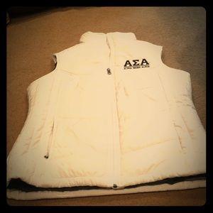 Jackets & Blazers - Alpha Sigma Aloha White vest size small
